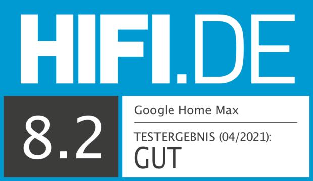 HIFI.DE Testsiegel für Google Home Max