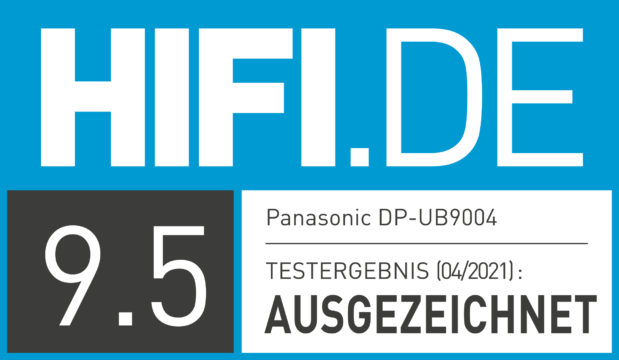 HIFI.DE Testsiegel für Panasonic DP-UB9004