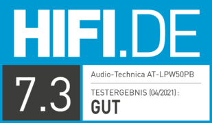 HIFI.DE Testsiegel für Test Audio-Technica AT-LPW50PB