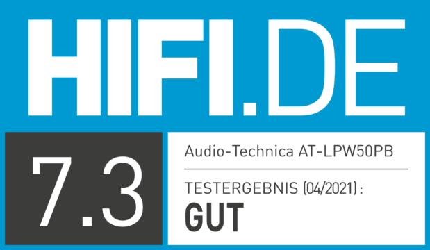HIFI.DE Testsiegel für Audio-Technica LPW50PB