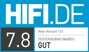 HIFI.DE Testsiegel für New Horizon 121
