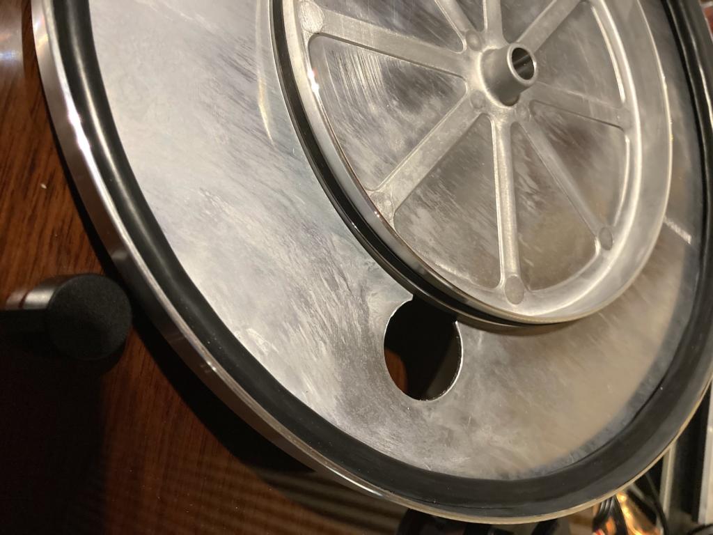 Thorens TD 202 - Plattenteller mit Dämpfungsring