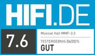 HIFI.DE Testsiegel für Music Hall MMF-3.3 im Test