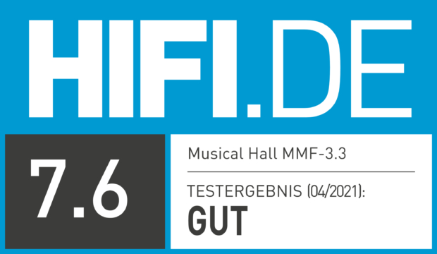HIFI.DE Testsiegel für Music Hall MMF-3.3