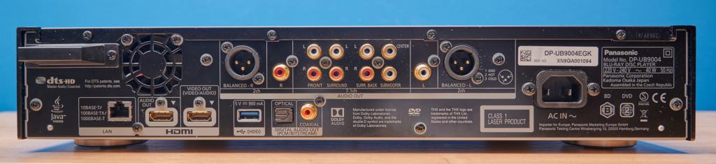 Audio- und Video-Anschluesse vom Feinsten bei dem DP-UB9004