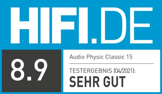 HIFI.DE Testsiegel für Audio Physic Classic 15