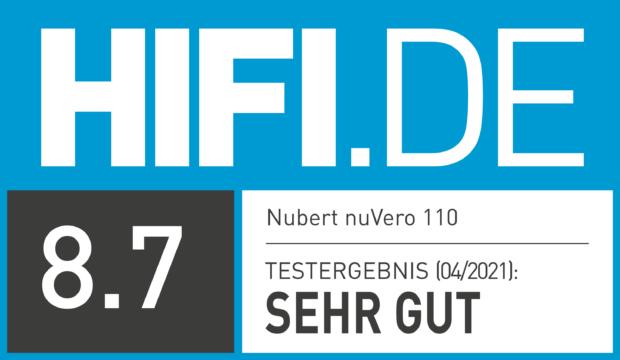 HIFI.DE Testsiegel für Nubert nuVero 110