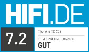 HIFI.DE Testsiegel für Thorens TD 202 im Test: Vinyl-Einstieg mit Phono-Preamp und USB