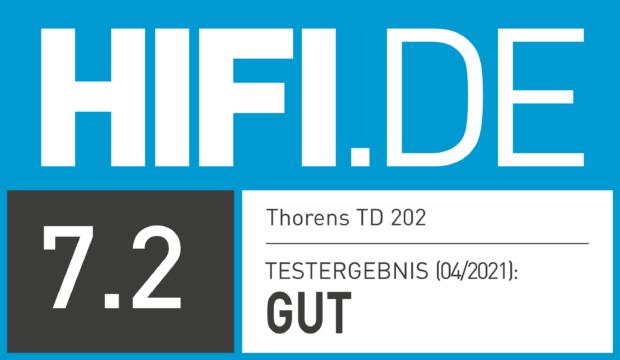 HIFI.DE Testsiegel für Thorens TD 202