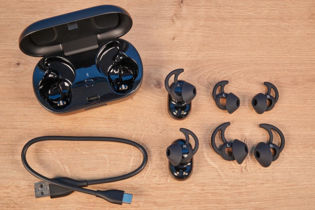 Lieferumfang der Bose QuietComfort Earbuds