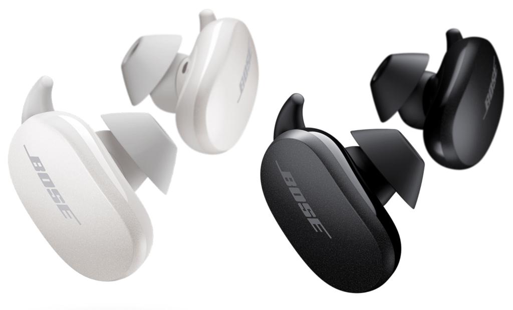 Bose QuietComfort Earbuds Schwarz und Weiß