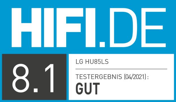 HIFI.DE Testsiegel für LG Vivo HU85LS