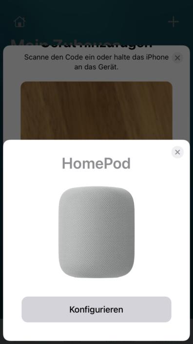 Home-App HomePod Konfiguration