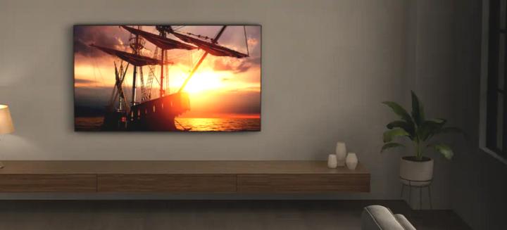 Sony TV an der Wand.
