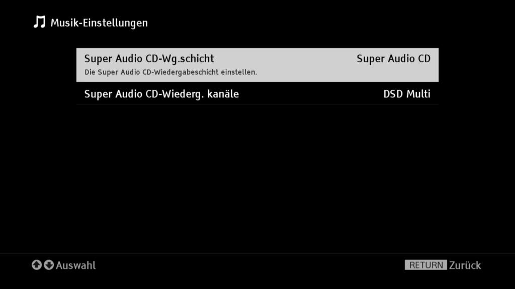 SONY UBP X800 SACD-Wiedergabe