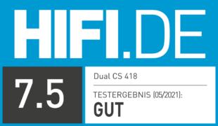 HIFI.DE Testsiegel für Dual CS 418 im Test – Einfach und gut