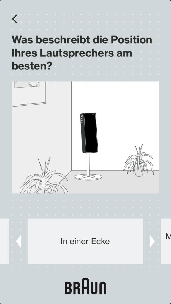 Braun App Screenshot Ecke