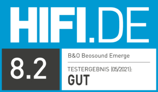 HIFI.DE Testsiegel für Bang & Olufsen Beosound Emerge