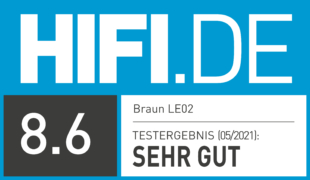 HIFI.DE Testsiegel für Braun LE02