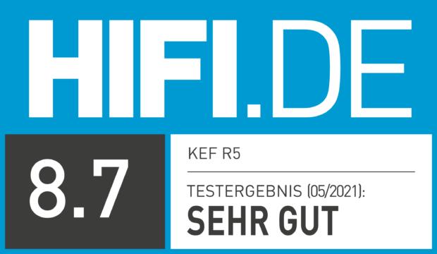 HIFI.DE Testsiegel für KEF R5