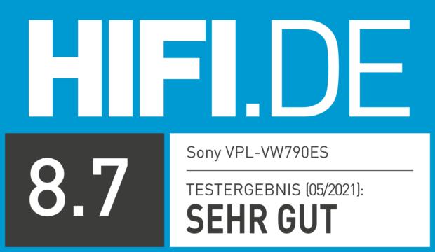 HIFI.DE Testsiegel für Sony VPL-VW790ES