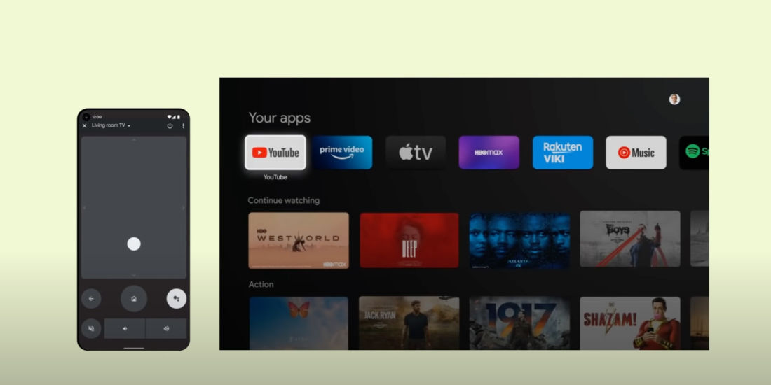 Android TV Fernbedienung Android Smaertphone Google I/O