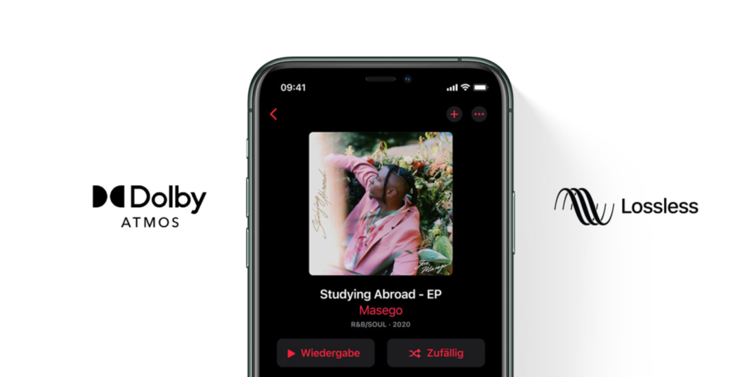 Apple Music mit Hi-Res Lossless und Dolby Atmos