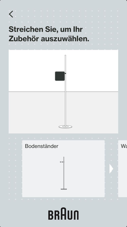 Braun LE03 Screenshot Ständer