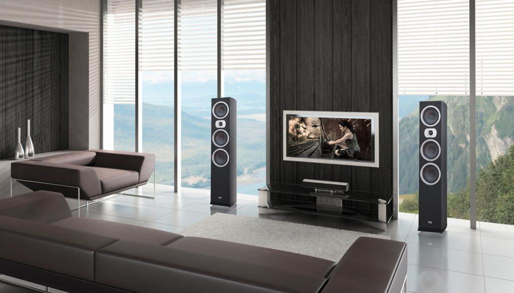 Heco bietet z. B. verschiedene Lautsprecherserien für Surround-Systeme an.