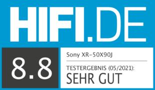HIFI.DE Testsiegel für Sony X90J im Test: Viel Leistung fürs Geld?