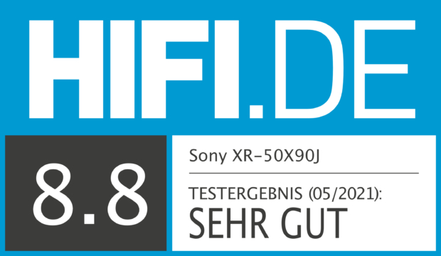 HIFI.DE Testsiegel für Sony XR50X90J