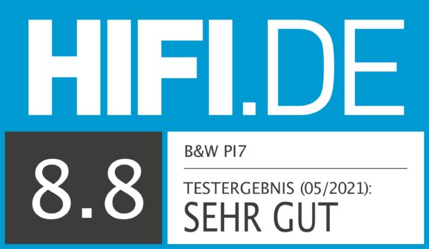 HIFI.DE Testsiegel für B&W PI7