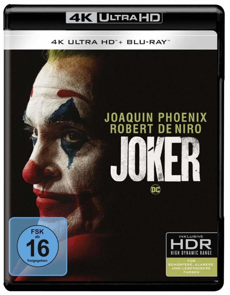 """Die UHD Blu-ray zu """"Joker"""" bietet nicht nur Ton in Dolby Atmos, sondern auch ein natives 4K-Bild mit Dolby Vision."""
