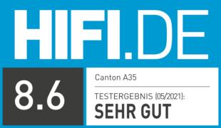 HIFI.DE Testsiegel für Canton A35