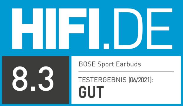 HIFI.DE Testsiegel für Bose Sport Earbuds