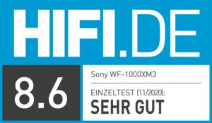 HIFI.DE Testsiegel-kopfhörer-sony-wf-1000xm3-8.6