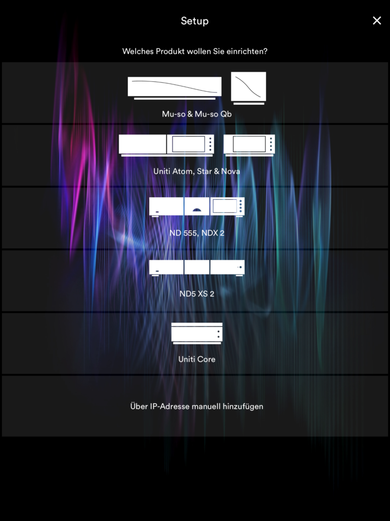 Naim Uniti Atom - Naim App Geräte