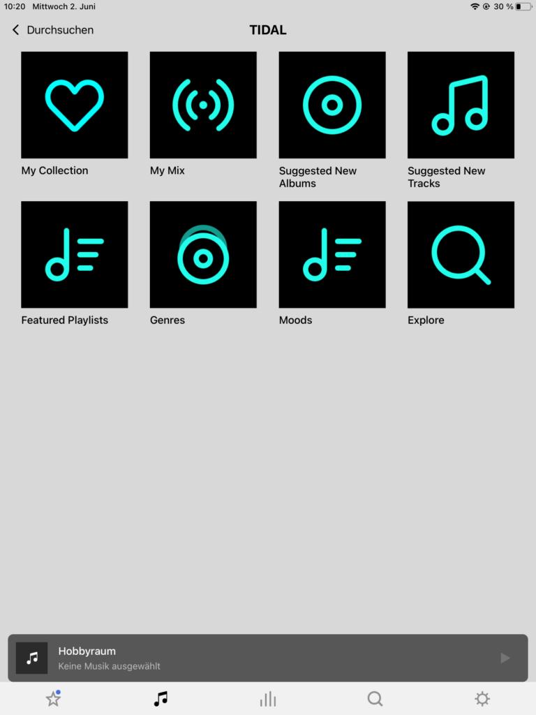 Sonos App Streamingdienste2