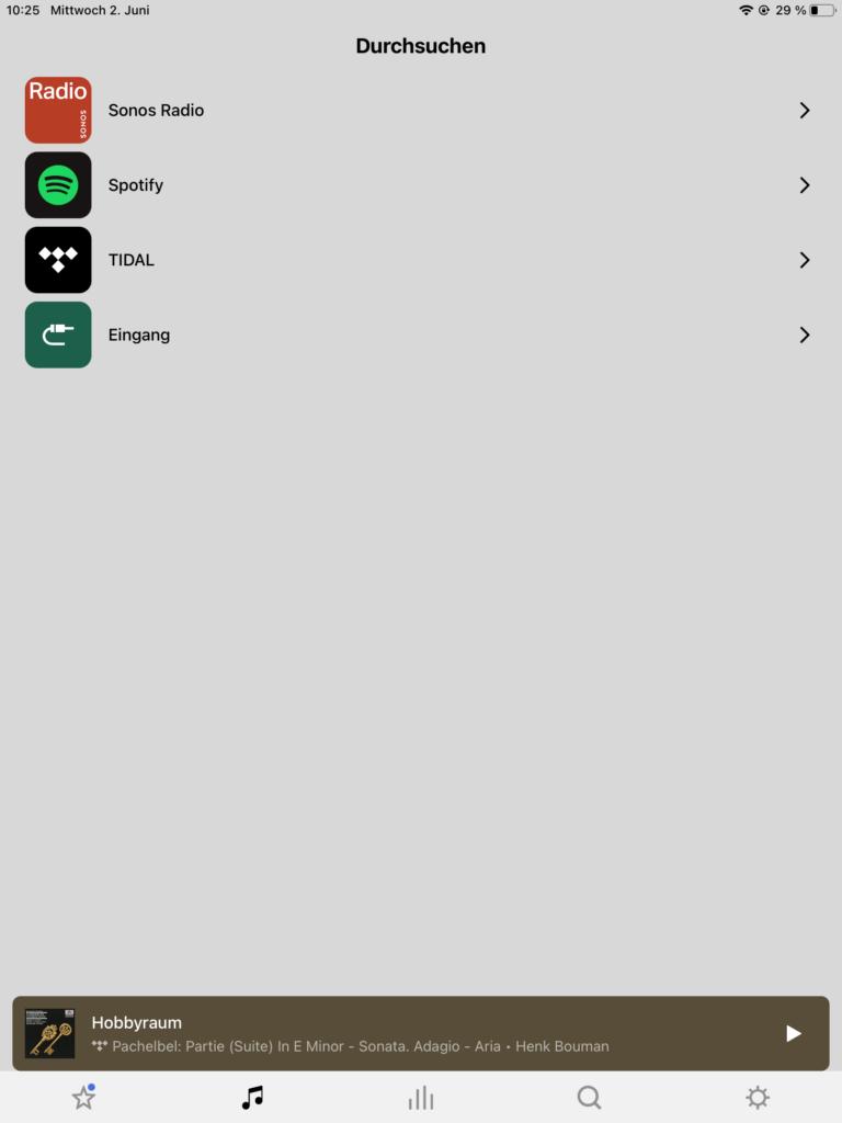 Sonos App Streamingdienste1