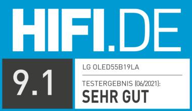 Testsiegel HIFI.DE LG OLED B1