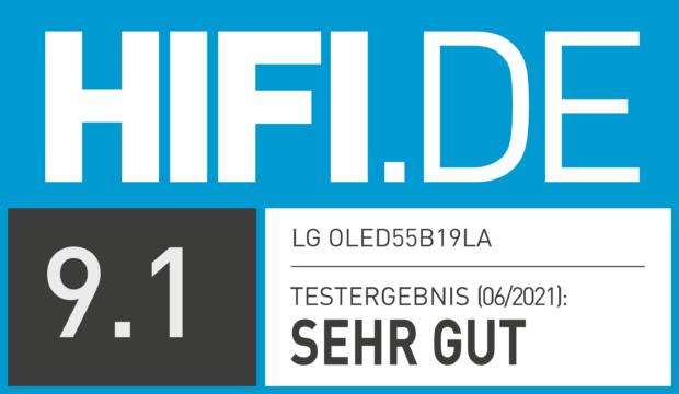 HIFI.DE Testsiegel für LG OLED B1