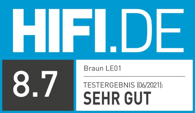 HIFI.DE Testsiegel für Braun LE01