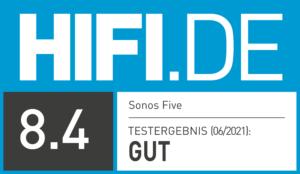 Testsiegel Sonos Five Gut (8,4)