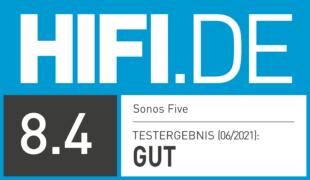 HIFI.DE Testsiegel für Sonos Five im Test: Wie klingt der größte Speaker der Multiroom-Spezialisten?