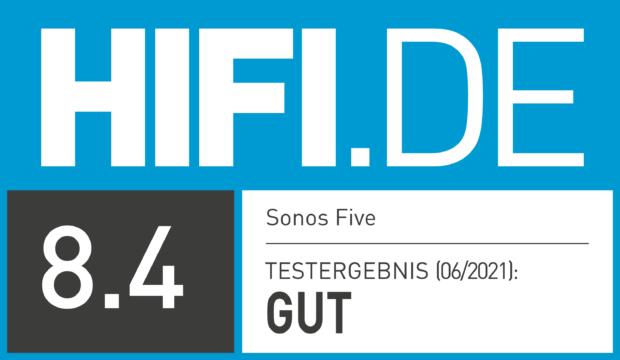 HIFI.DE Testsiegel für Sonos Five