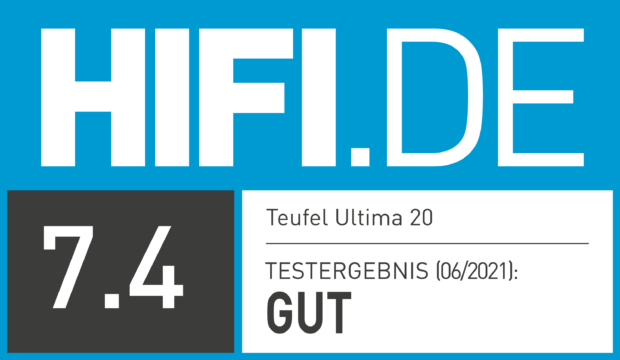 HIFI.DE Testsiegel für Teufel Ultima 20