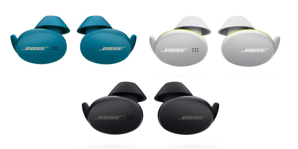 Die Bose Sport Earbuds in verschiedenen Farben