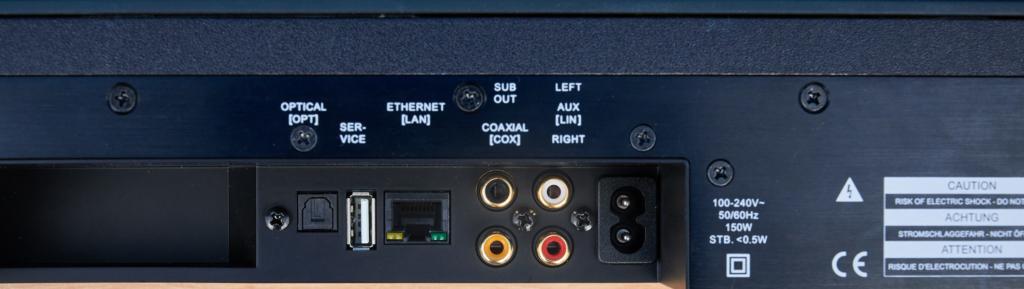 Analoge und digitale Anschlüsse der Smart Soundbar 10