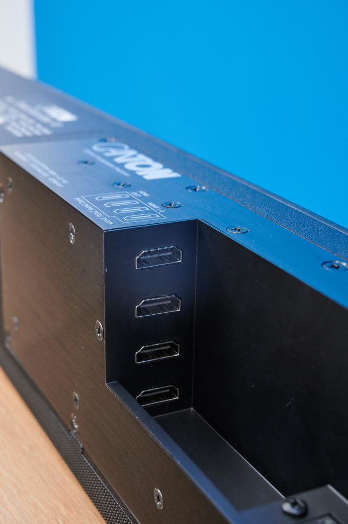 HDMI Anschluss Sektion der Smart Soundbar 10