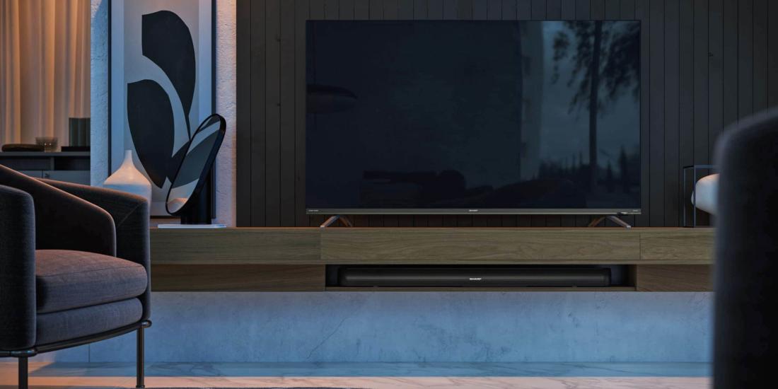 Sharp Fernseher im Wohnzimmer